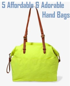 5 Affordable and Adorable Hand Bags