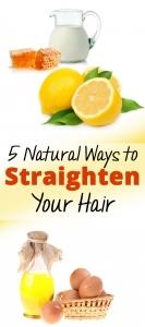 5 Natural Ways to Straighten Your Hair