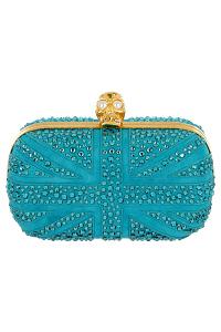 Alexander McQueen Turquoise Clutch