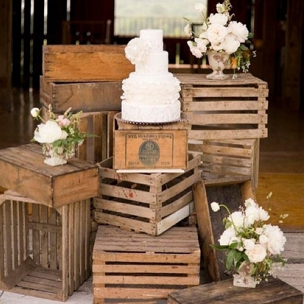 This Crate Cake Display Is Ornate In A Subtle Way Perfect For A