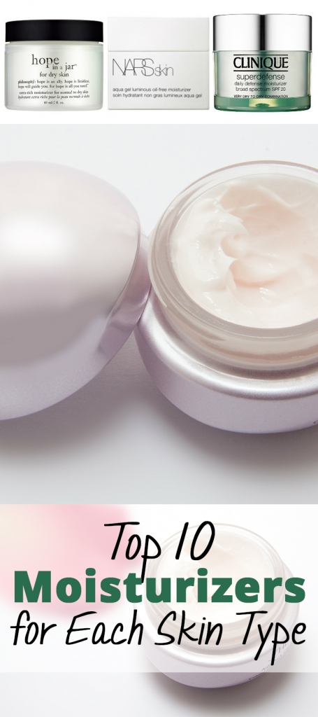 Top 10 Moisturizers for Each Skin Type