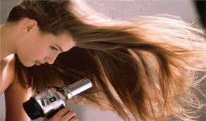 If you want to make thin hair look thick, flip your hair over to blow dry.