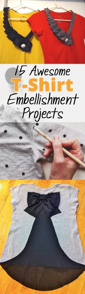 15 Awesome T-Shirt Embellishment Projects