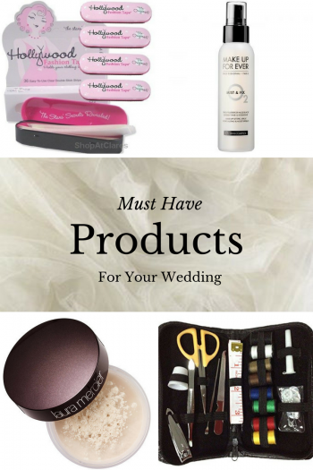 Must Have Products for Your Wedding Day. Wedding Beauty Hacks, Products You Need for Your Wedding, Wedding Day Beauty Tips, Wedding Hacks, Wedding Planning Hacks