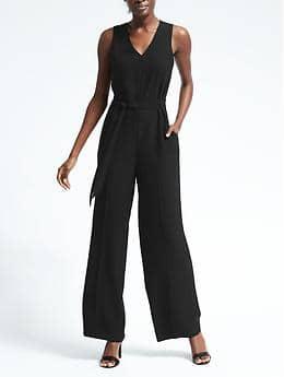 Black Jumpsuit, Two Ways. Spring Fashion, Spring Fashion for Women, Spring Fashion Tips, How to Dress for Spring, How to Wear a Jumpsuit, How to Pair a Jumpsuit, Things to Wear a Jumpsuit With, Popular Pin